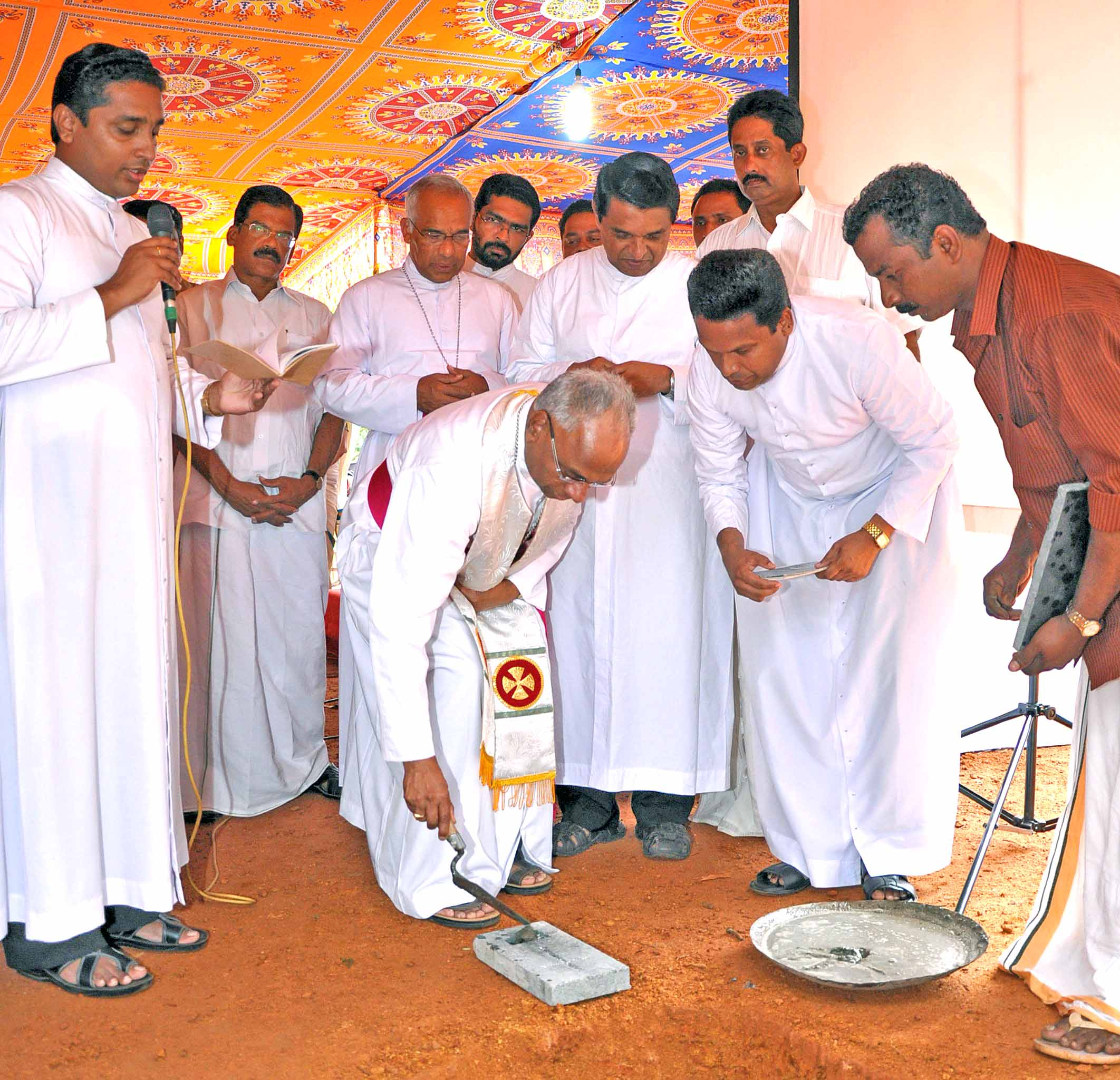 Foundation Stone for Good Samaritan Centre Cherpunkal